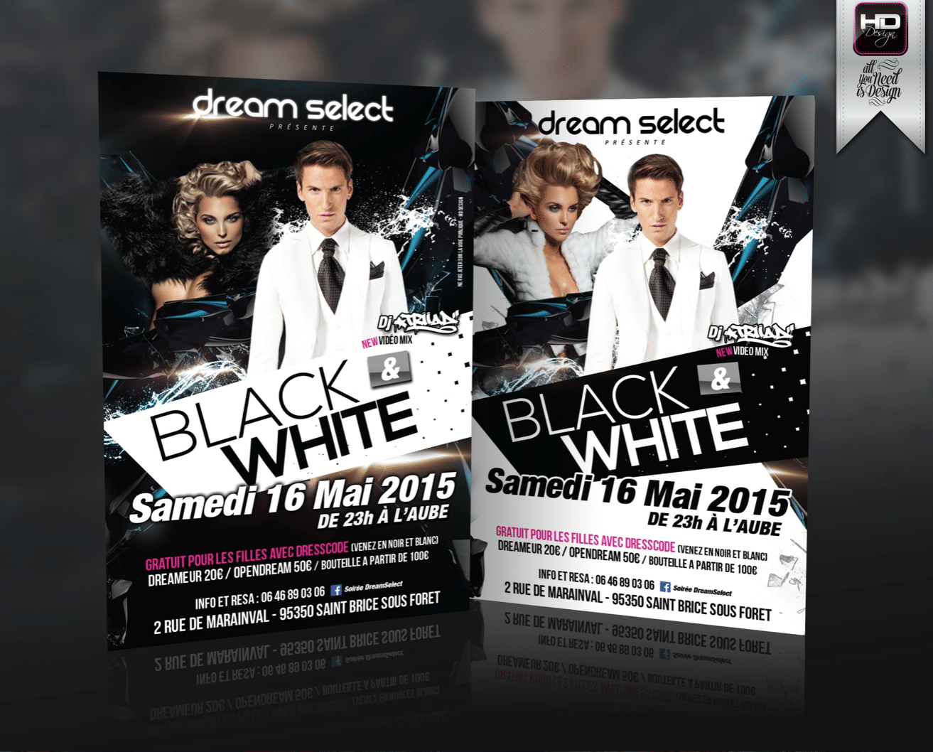 Flyer Boite de Nuit Dream Select