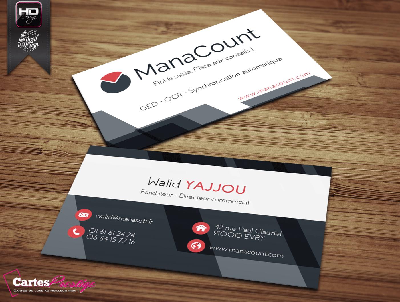 Cartes de visite Manacount