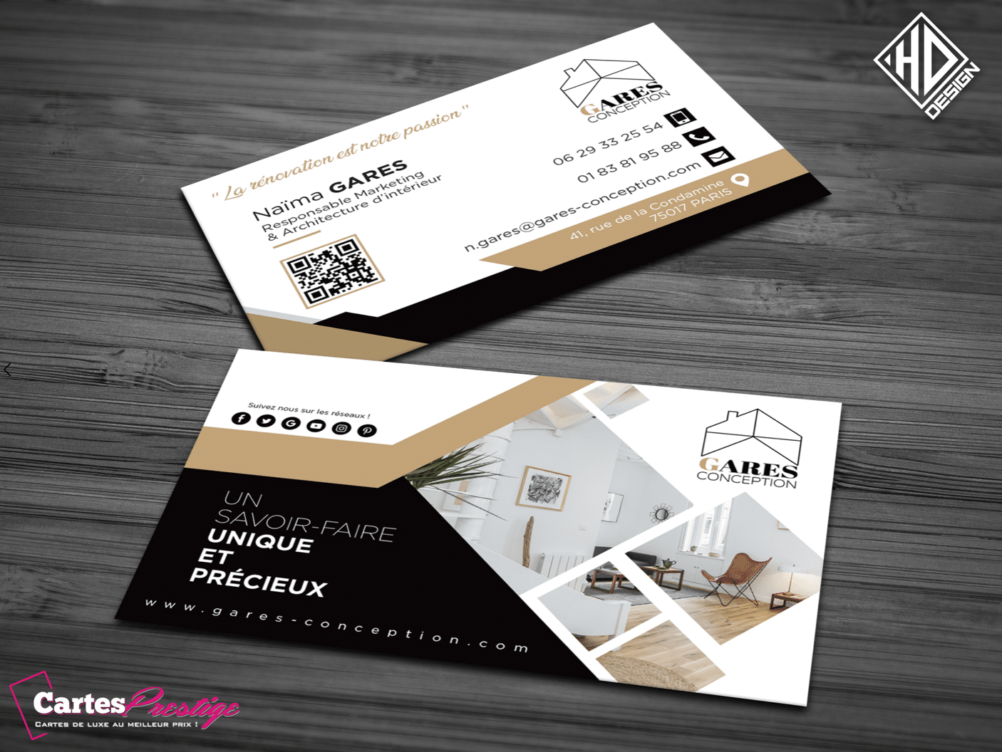 cartes de visite renovation