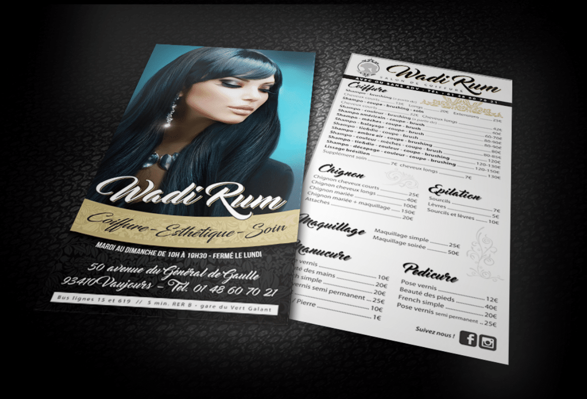 Flyer coiffeur