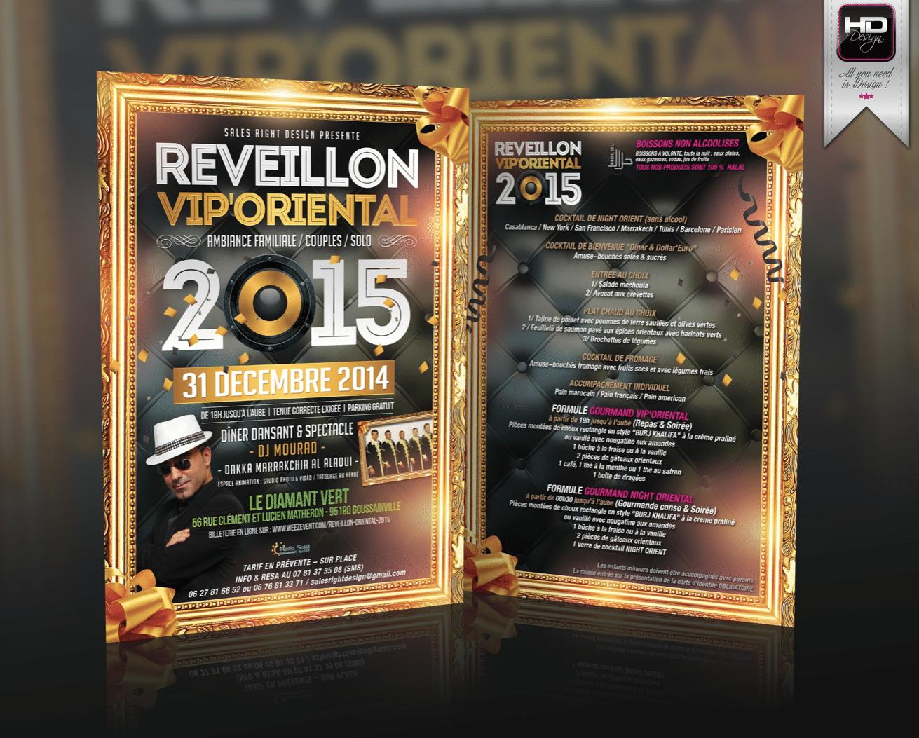 Flyer Soirée Reveillon 2015
