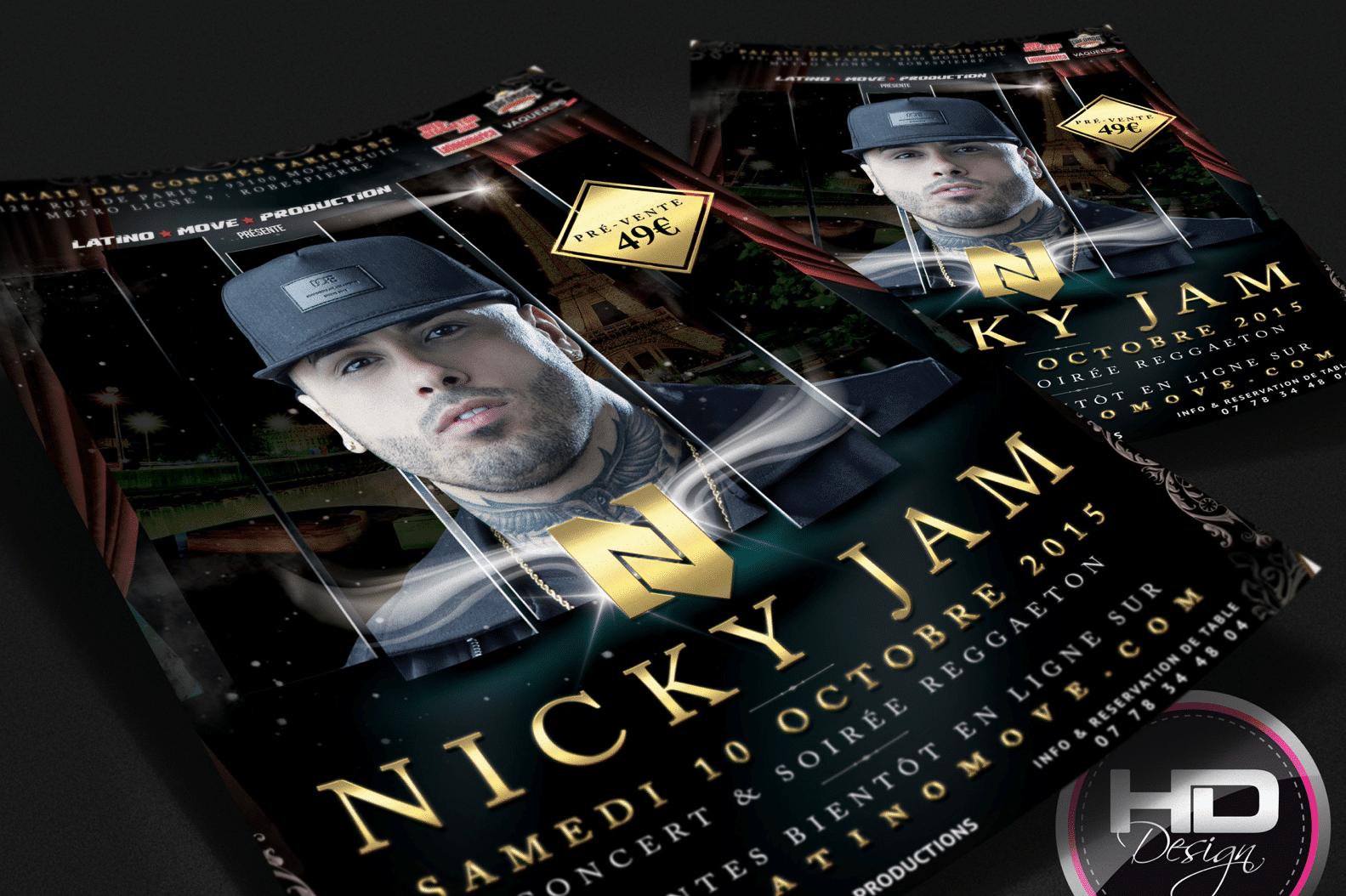 Flyer Nicky Jam