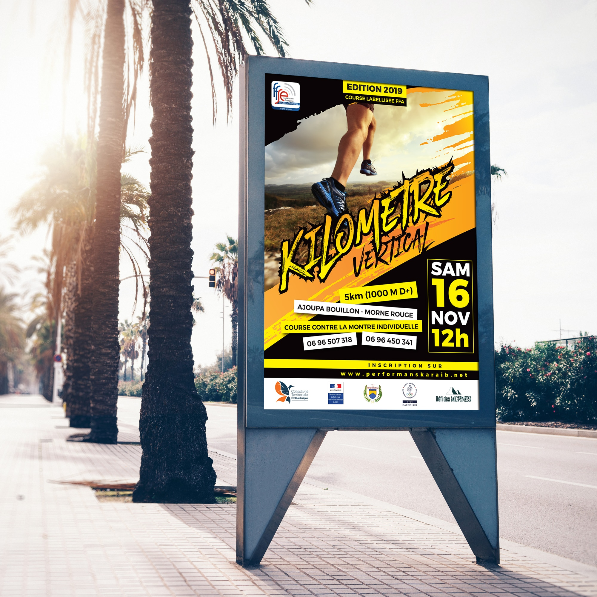 Street City Billboard Banner PSD Mock-up For Advertisement